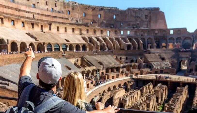 The Colosseum in Heart of Rome